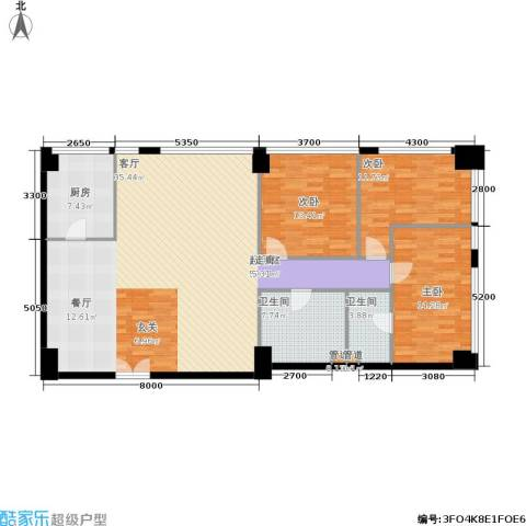 新时代广场3室0厅2卫1厨178.00㎡户型图