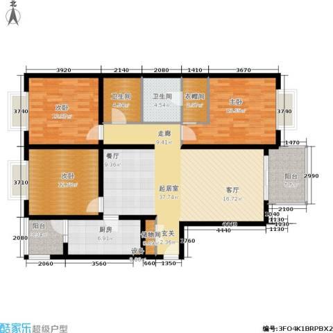 亚太世纪花园3室0厅2卫1厨120.78㎡户型图