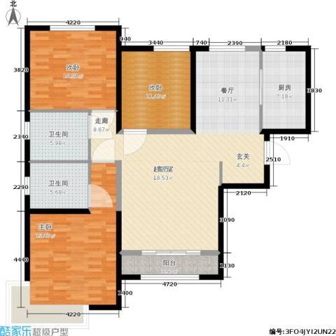 雅仕兰庭3室0厅2卫1厨125.00㎡户型图