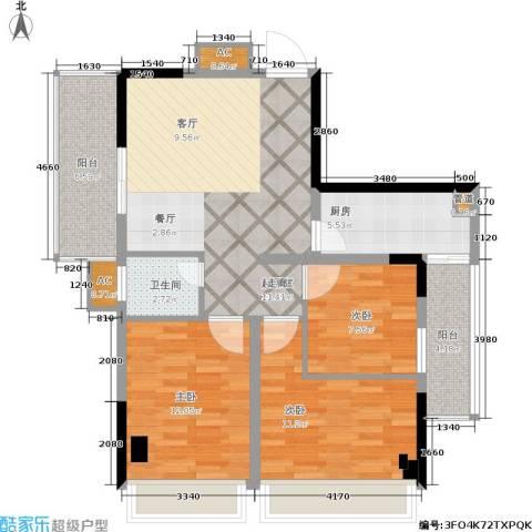 骏豪国际3室0厅1卫1厨88.00㎡户型图