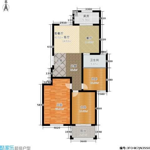 龙成・锦绣花园3室1厅1卫1厨123.00㎡户型图