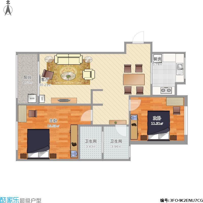 汉江梦82平方米A1户型