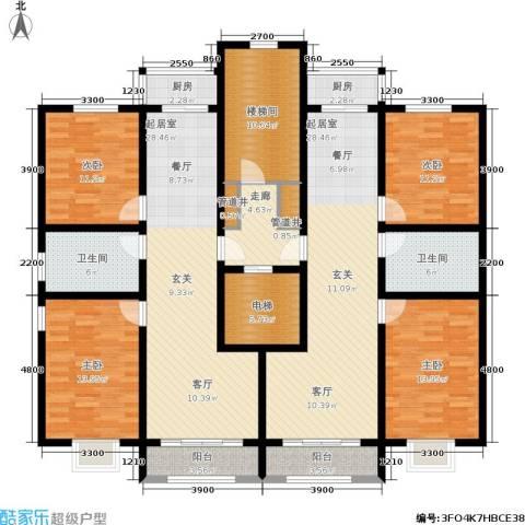 水木清华4室0厅2卫2厨223.00㎡户型图