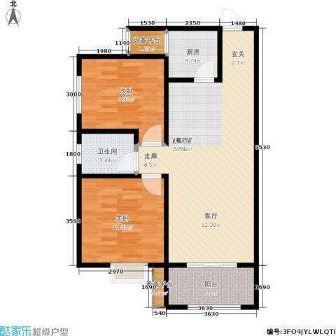 新福兴・面孔公社2室0厅1卫1厨87.00㎡户型图