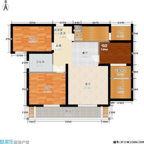 华都・金色兰庭3室0厅1卫1厨110.00㎡户型图