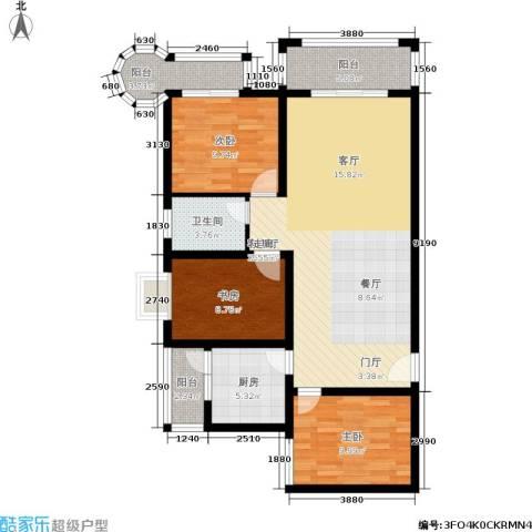 凯旋帝景3室1厅1卫1厨121.00㎡户型图