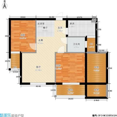 华都・金色兰庭2室0厅1卫1厨89.00㎡户型图