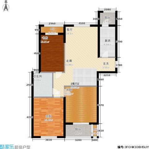 华都・金色兰庭3室0厅1卫1厨115.00㎡户型图