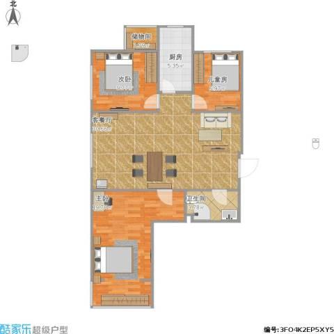太铁佳苑3室1厅1卫1厨105.00㎡户型图