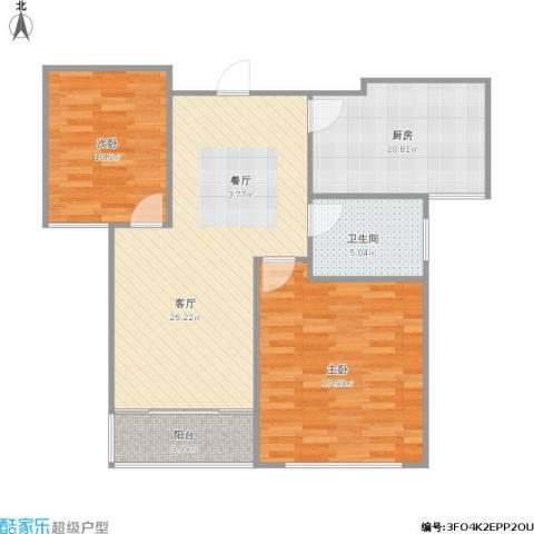世纪东山2室1厅1卫1厨100.00㎡户型图