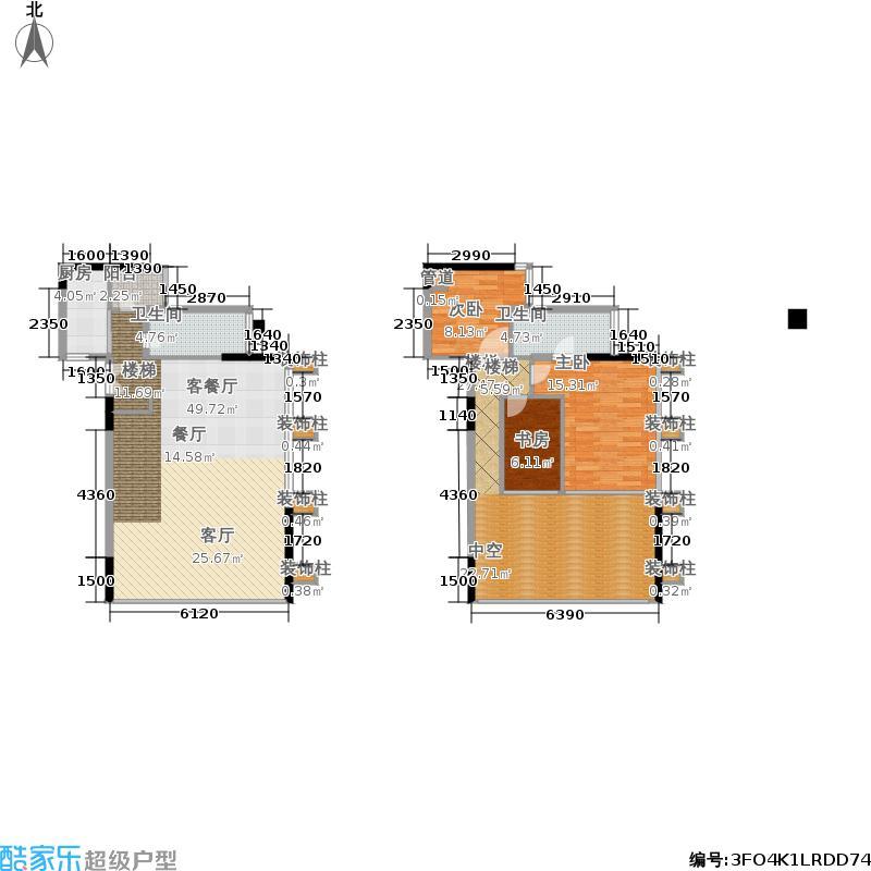 尚峰温莎堡71.00㎡单身公寓10、151-2层户型2室2厅