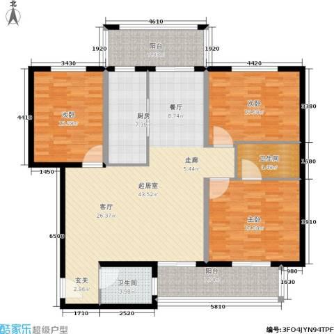 圣地亚哥3室0厅2卫1厨132.00㎡户型图