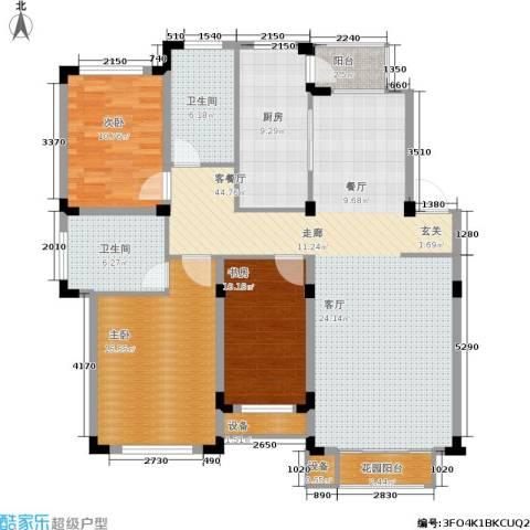 丰远・玫瑰城尚品3室1厅2卫1厨156.00㎡户型图