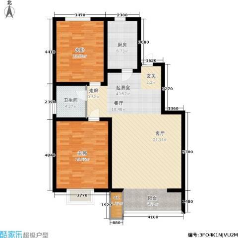 高新香江岸2室0厅1卫1厨120.00㎡户型图