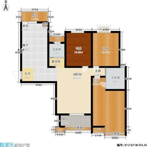 领秀冠南苑3室0厅2卫0厨148.93㎡户型图