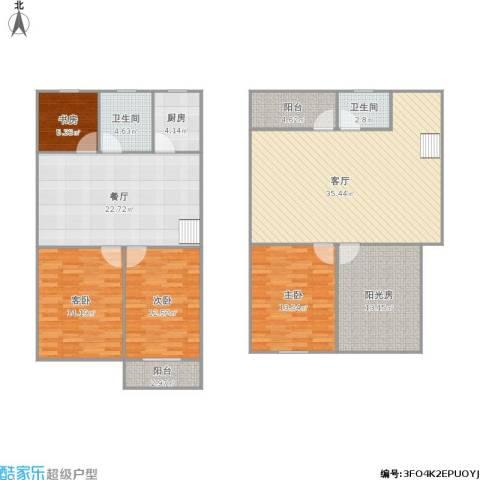 263102金利花园4室2厅2卫1厨180.00㎡户型图
