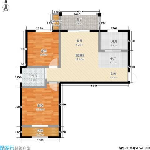 新福兴・面孔公社2室0厅1卫1厨78.00㎡户型图