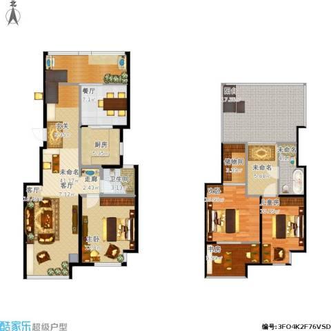 新城香溢紫郡4室1厅1卫1厨176.00㎡户型图