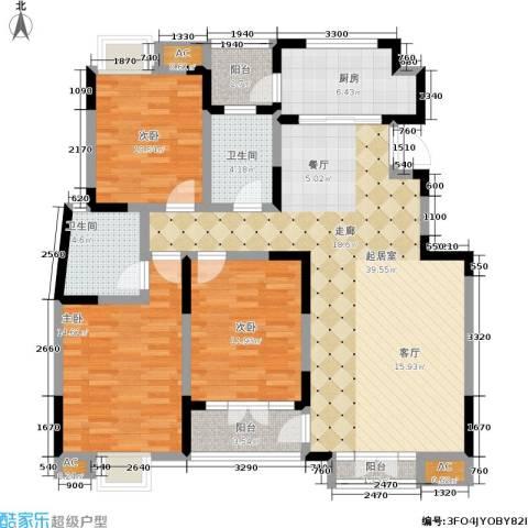 融科贻锦台3室0厅2卫1厨129.00㎡户型图