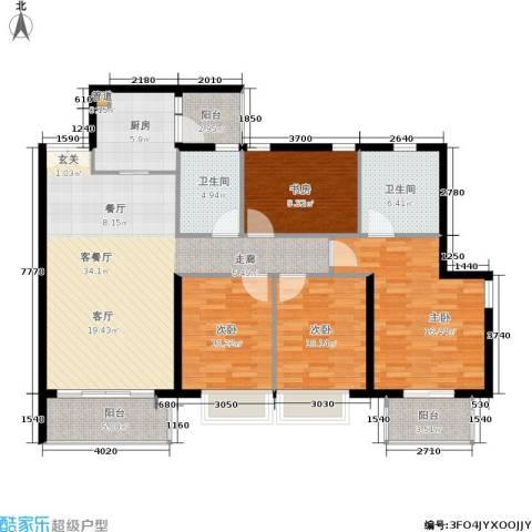 天韵瑚璟4室1厅2卫1厨123.00㎡户型图