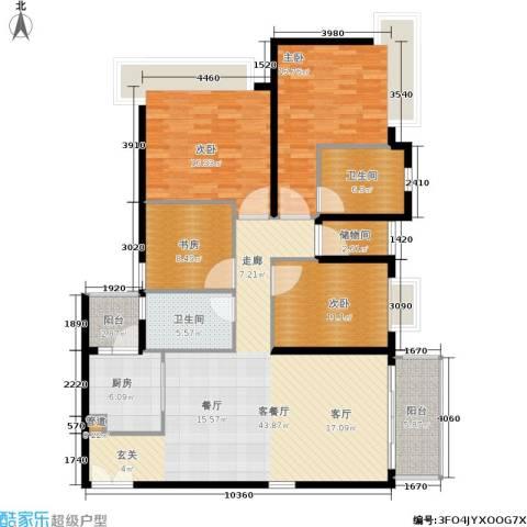 天韵瑚璟4室1厅2卫1厨140.00㎡户型图