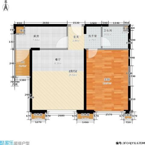 中粮大道1室0厅1卫1厨69.00㎡户型图