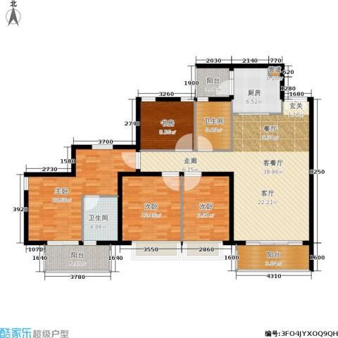 天韵瑚璟4室1厅2卫1厨135.00㎡户型图