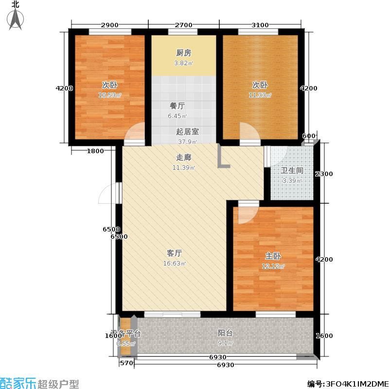 天冠城116.26㎡C户型3室2厅