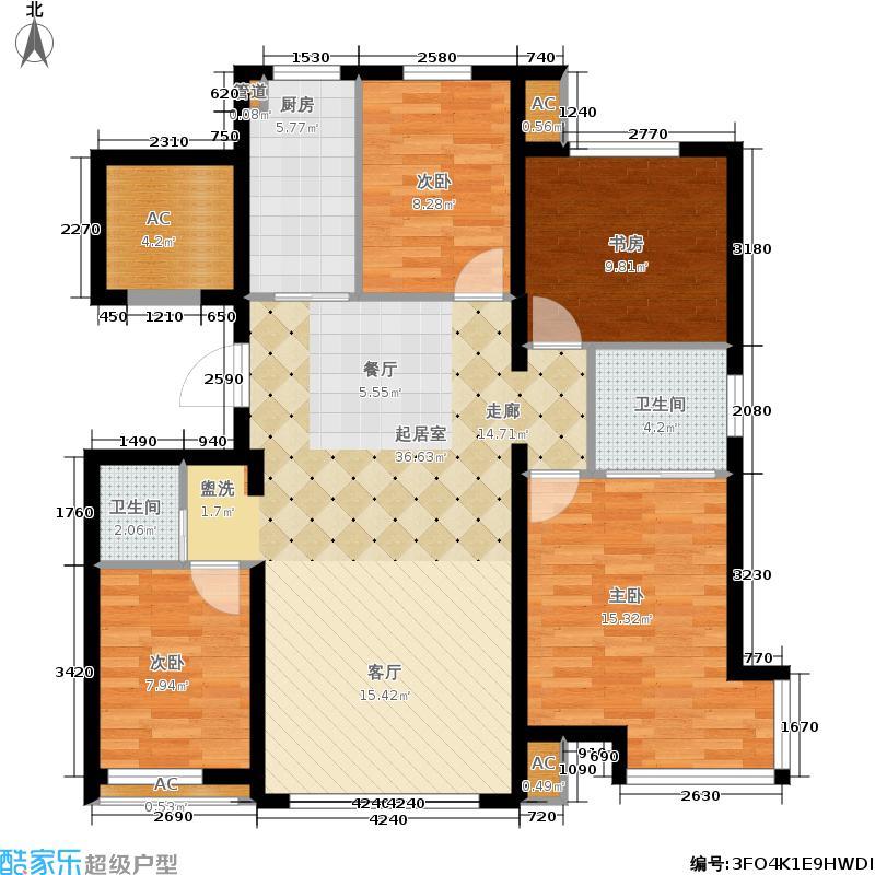 百商托斯卡纳小城117.55㎡百商・托斯卡纳小城高层A户型