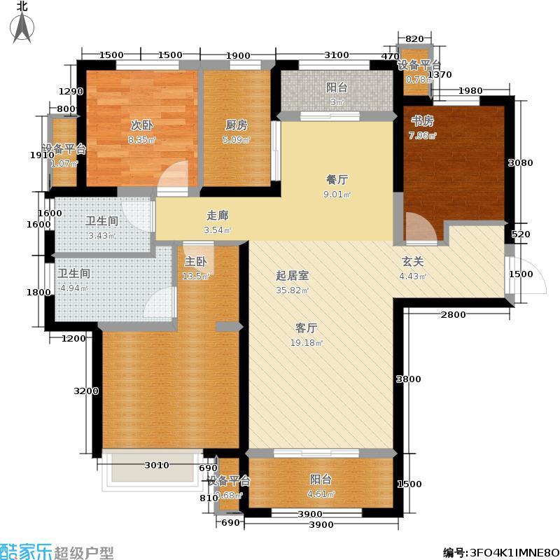 保利花园121.00㎡c2户型3室2厅