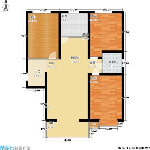 高新香江岸3室0厅1卫1厨145.00㎡户型图