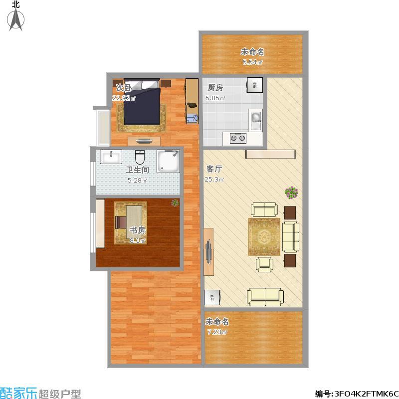 100平A2三室两厅