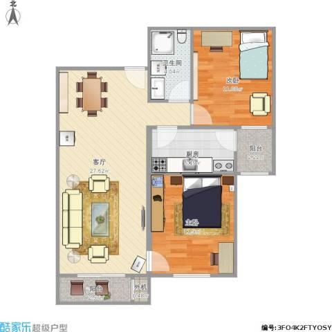 北京市怀柔区庙城镇怡安园小区2室1厅1卫1厨89.00㎡户型图