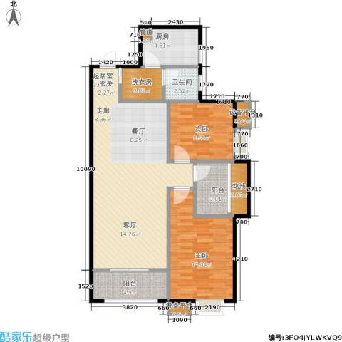 新福兴・面孔公社2室0厅1卫1厨101.00㎡户型图