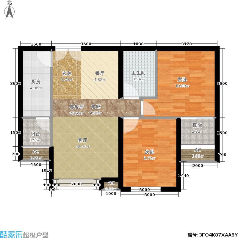 东亚望京中心A2d1户型二居户型