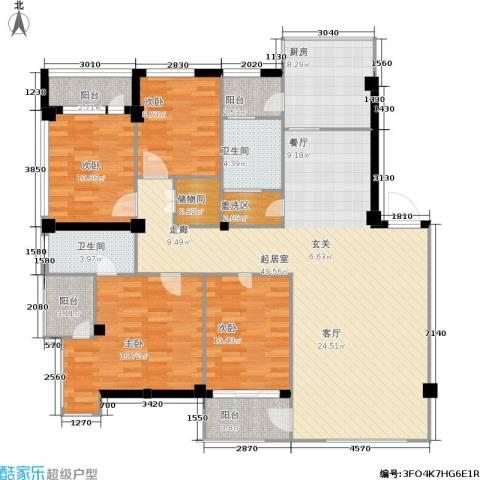 东升御景苑4室0厅2卫1厨175.00㎡户型图