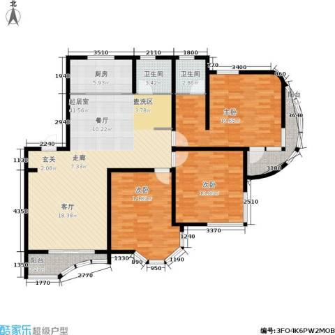 西湖城3室0厅2卫1厨158.00㎡户型图