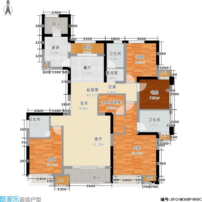 新建中心158.05㎡G户型4室2厅3卫