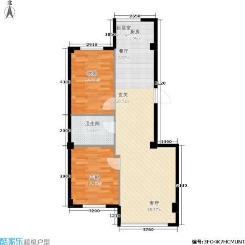 新城丽都2室0厅1卫0厨90.00㎡户型图