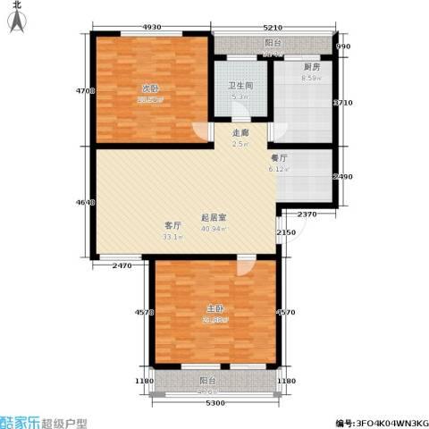 南新园2室0厅1卫1厨120.00㎡户型图