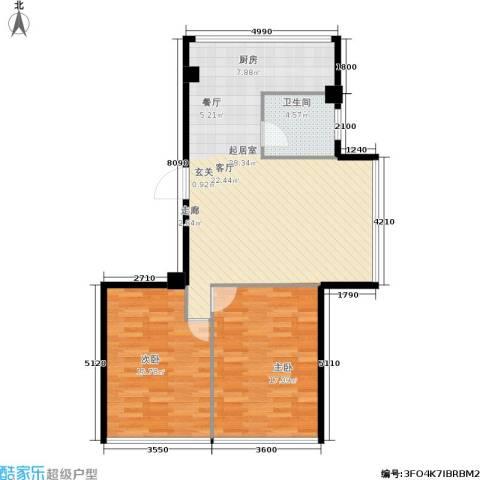 新城丽都2室0厅1卫0厨103.00㎡户型图