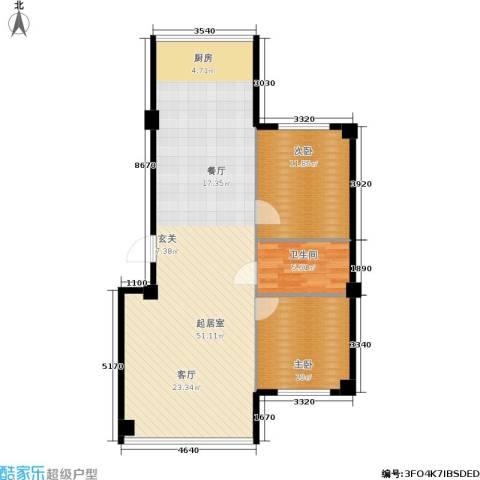 新城丽都2室0厅1卫0厨106.00㎡户型图
