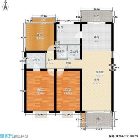 北京青年城2室0厅2卫1厨117.00㎡户型图