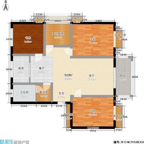 兴达广场3室1厅1卫1厨145.00㎡户型图