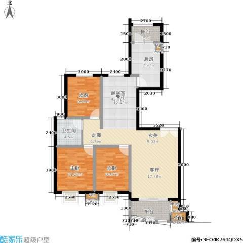 兴蒙时代广场3室0厅1卫1厨109.64㎡户型图