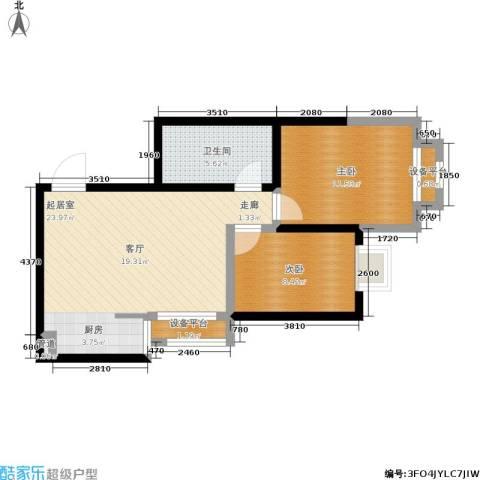 简约花园2室0厅1卫0厨59.00㎡户型图