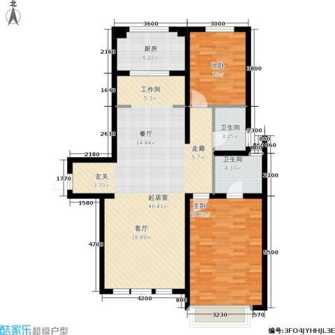 宜和澜岸2室0厅2卫1厨112.00㎡户型图