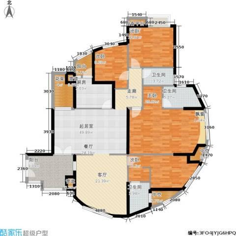 万科城市花园4室0厅3卫1厨170.00㎡户型图