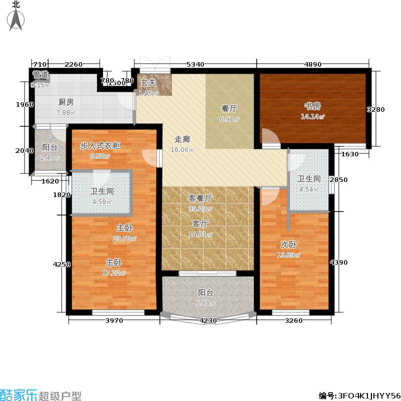 国润城133.03㎡8号楼C1-3户型3室2厅