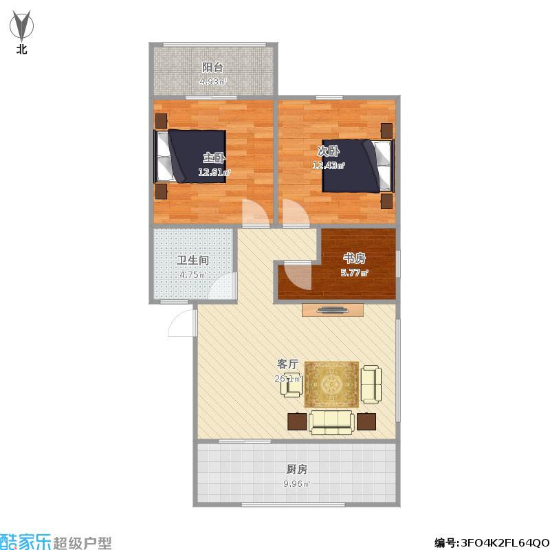 东苑新村三室二厅80平